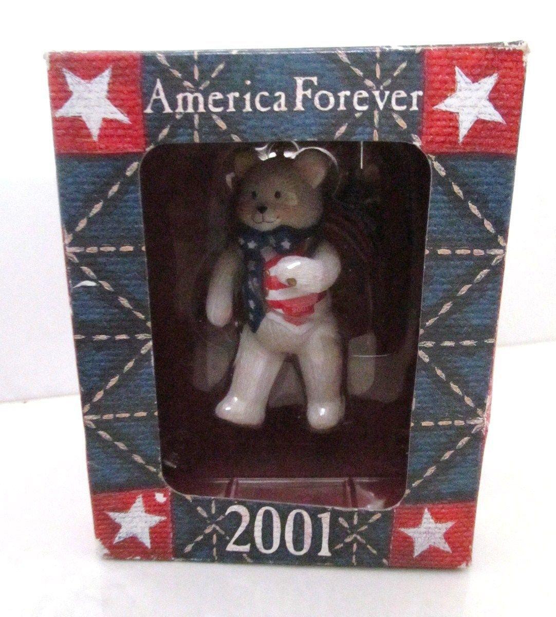 American greetings christmas ornament 68 listings american greeting 2001 america forever bear patriotic tree ornament vtg new 1480 m4hsunfo