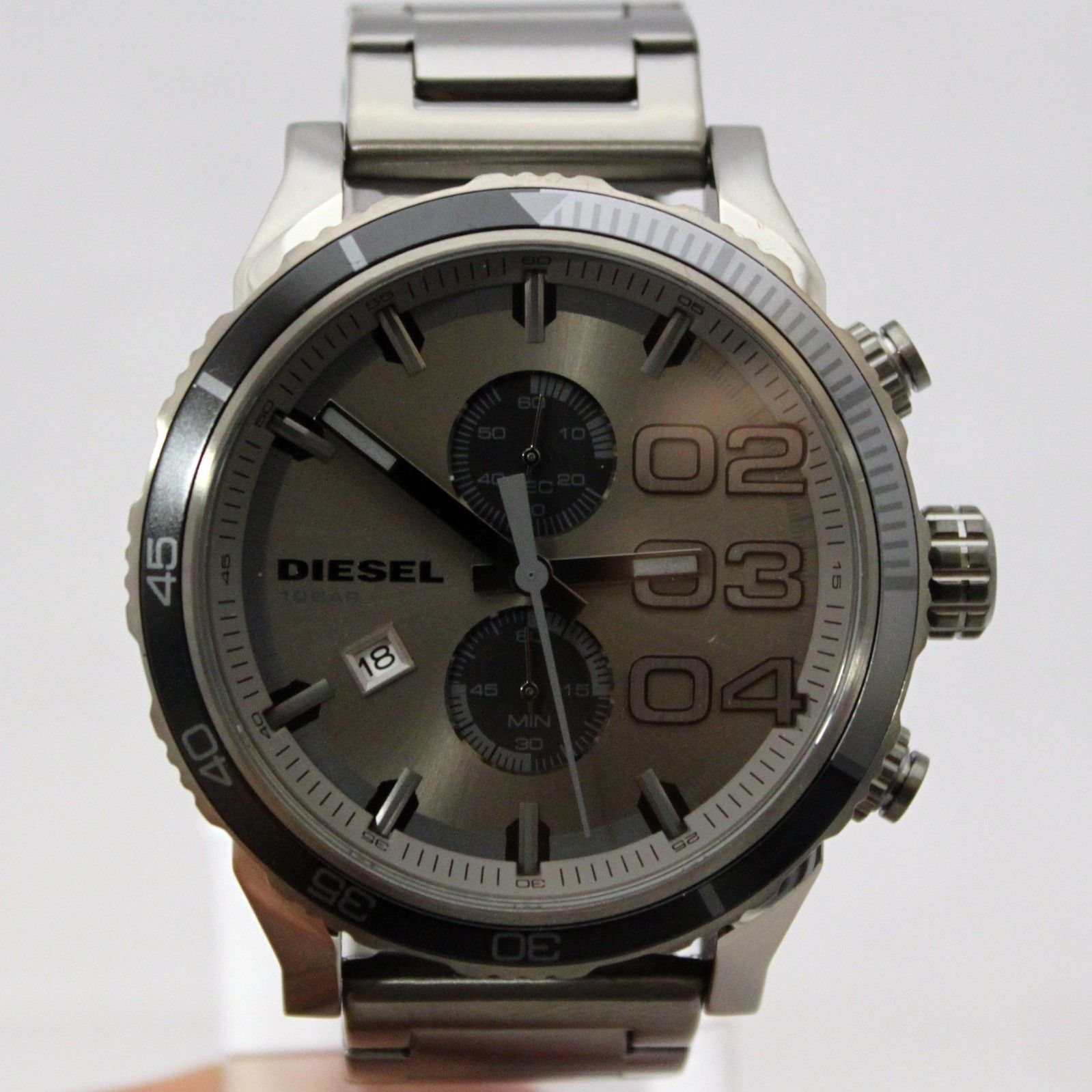 New Diesel DZ4314 Chronograph Double Dawn Gunmetal Stainless Steel Watch for Men