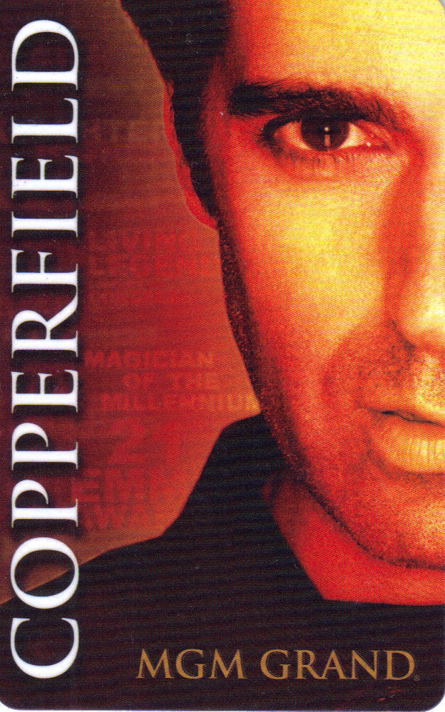 Primary image for DAVID COPPERFIELD MGM GRAND Las Vegas ROOM KEY