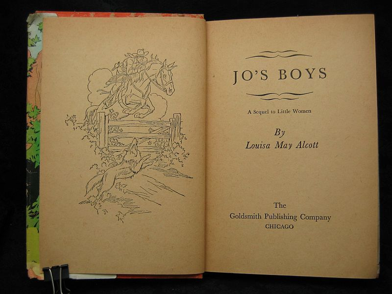 Jo's Boys A Sequel to Little Women by Louisa May Alcott