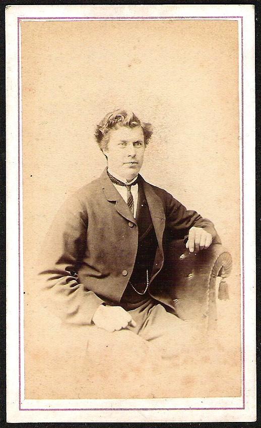 ANTIQUE CARD DE VISITE REAL PHOTO SOPHISTICATED MAN #2