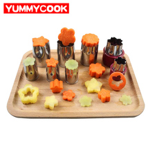 8pcs/Set Stainless Steel Puzzle Fruit Vegetable Cutter Kitchen Tools Mol... - $18.17