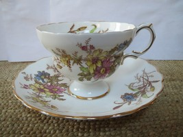 Rosina Multi-Colored Cup and Saucer - $16.00