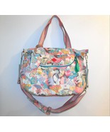 Oilily Large Tote Shoulder Carry All Bag Melon Print Overnight Multi Color - $35.00