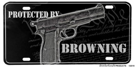 Protected By Browning We The People Aluminum License plate - $13.81