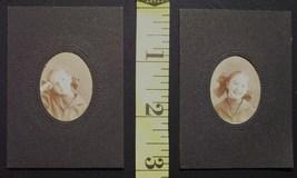 Cabinet Card Lot (2) Small Photos Pretty School Girl! c.1890 - $3.00