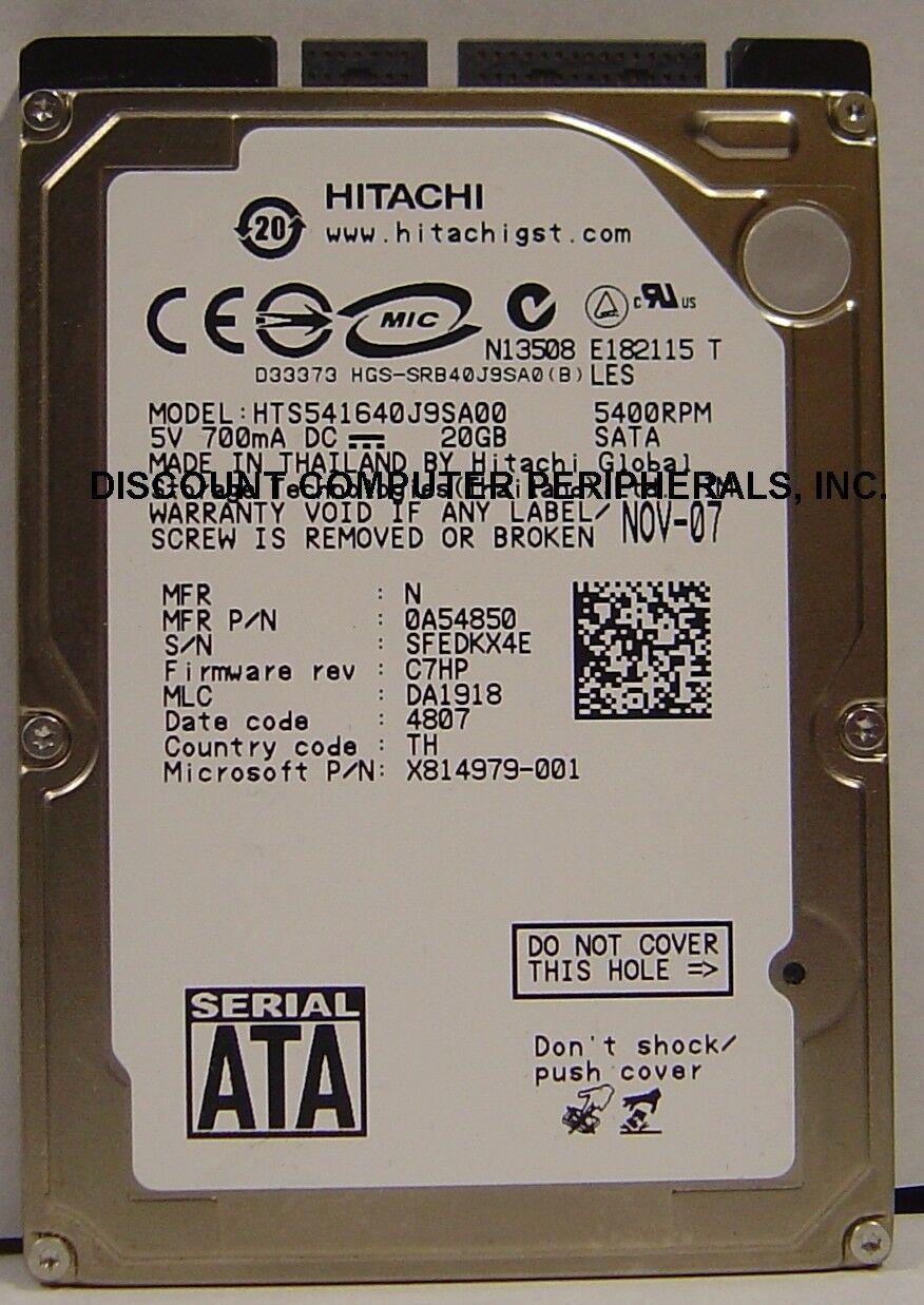 "NEW 40GB Hitachi SATA 2.5"" hard drive HTS541640J9SA00 Our Drives Work"