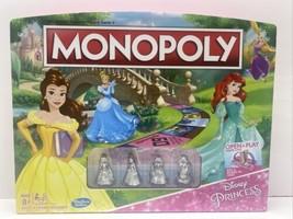 Hasbro Monopoly Game Disney Princess Edition with Metal Figurines Rare .OPEN BOX - $24.14