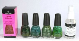 China Glaze Nail Polish 6 Mixed Color & Treatment Full Size Collection S... - €17,93 EUR