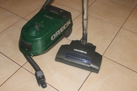 Oreck Dutch Tech DTX1200B Canister Vacuum With Power Brush Tested - $499.00