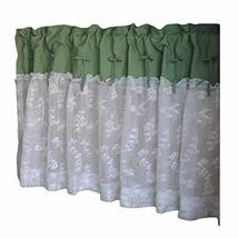 PANDA SUPERSTORE Green/Lace - Short Kitchen Curtain Half Window Curtain Cafe Cur