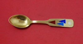 Christmas Theme by Michelsen Sterling Silver Teaspoon 1954 Vermeil Enameled - $103.55