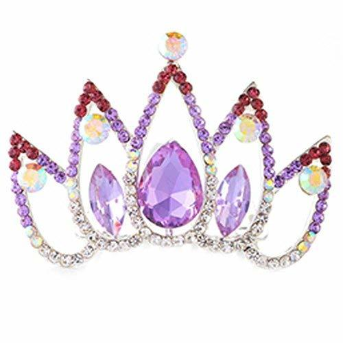 Hair Comb Crystal Crown Wedding Bridal Headdress Headband