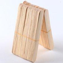 100 Large Wax Waxing Wood Body Hair Removal Craft Sticks Applicator Spatula image 2