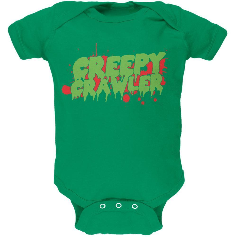 Halloween Creepy Crawler Kelly Green Soft Baby One Piece image 1