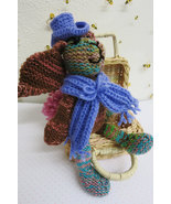 Handmade knitted Rag Doll Bunny toy - birthday gift - nursery decoration - $20.00