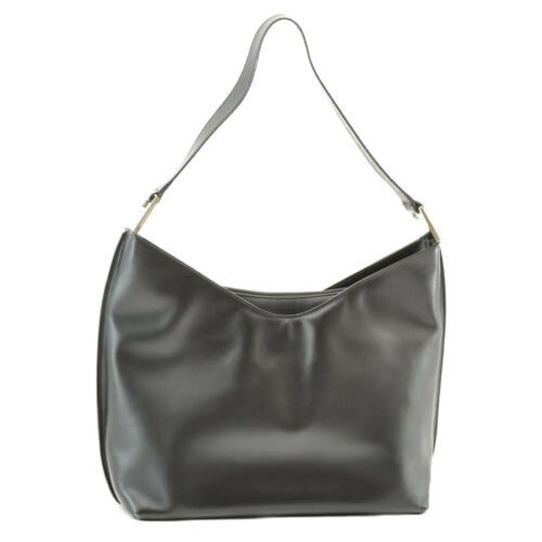 GUCCI Leather Shoulder Bag Black Auth ar1151