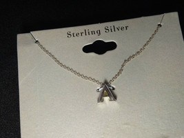 Personalized A Sterling Silver Necklace 18 in - $10.35