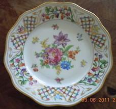 Schumann Bavaria Dresden Rose SCH55 Luncheon Plate - $50.48