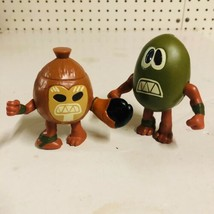 2016 Subway Disney Moana KAKAMORA Coconut Warrior Toy Figures Set Lot of 2 - $29.69