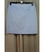 Tahari ASL Skirt Petite Sz 14P Blue White Hickory Stripe VINNY Career St... - $39.53