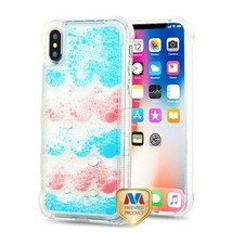For APPLE iPhone XS/X Semicircle Partition TUFF AquaLava Hybrid Case Cover - $13.39