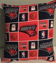Bobcats, Pillow, Charlotte Bobcats, Pillow NBA Handmade in USA, Basketball - $9.97