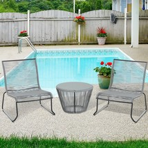 Outdoor Garden Rattan Bistro Set 2 Seater Backyard Modern Furniture - €128,80 EUR