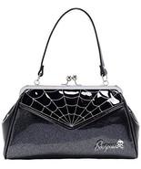 Sourpuss Spiderweb Backseat Baby Purse Silver - $57.52