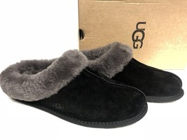 Ugg Australia Moraene Black 1007703 Women Sheepskin Suede Slipper House ... - $79.99