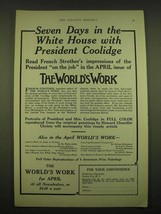 1924 Doubleday, Page & Co. Ad - Seven days in the white house with President  - $14.99