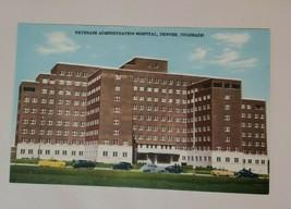 Vintage Linen Postcard: Veterans Administration Hospital- Denver, Co. Cars - $3.47