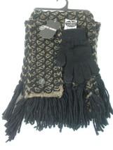 Steve Madden Women's Muffler Scarf Headband & EZ Tap Glove Set Black Bro... - $9.95