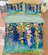 3D Flowers Vines Bed Pillowcases Quilt Duvet Cover Set Single Queen King Size AU - $64.32+