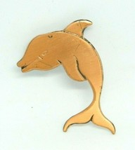 Copper Dolphin Vintage Pin Brooch Retro Mid Century - $19.79