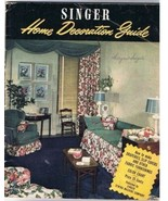 VINTAGE Singer Home Decoration Guide (1948) - $14.02