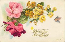 Birthday Greetings Vintage 1909 Post Card - $3.00