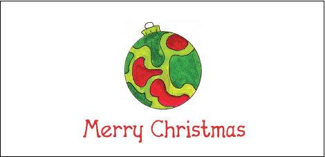 Happy Holidays Dots Tri-Fold Money Holder