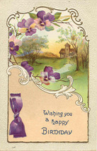 Wishing A Happy Birthday 1911 Vintage Post Card - $3.00
