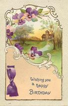 Wishing A Happy Birthday 1911 Vintage Post Card - $3.00