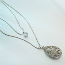 Long Necklace Women Big Water Drop Style, Fashion Round Charm Pendant RM - $10.89