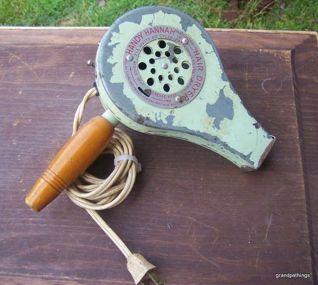 "ANTIQUE ""HANDY HANNAH"" ELECTRIC HAIR DRYER"
