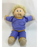Vtg 1986 Cabbage Patch Kids Boy Doll Yellow Blonde Hair Blue Eyes w/Outf... - $13.85