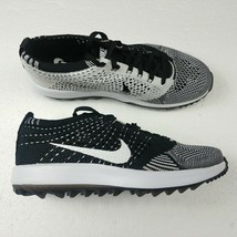 Nike Flyknit Racer G Golf Shoes Oreo White Black 909769-001 Laced Womens... - $74.76