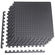 """CAP Barbell 6-Piece Puzzle Exercise Mat, Black, 1/2"""" Thick - $314,43 MXN"""