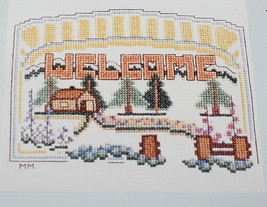 Welcome Cross Stitch Pattern Chart Meredith Mark 1987 Home Trees - $7.43