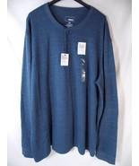 Sonoma Supersoft Performance Thermal Henley Shirt Coast Blue Mens XXL 2X... - $24.74