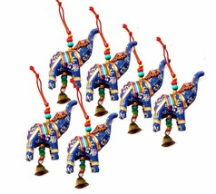 Elephant Bell Decorative Hanging Layer Set of 6 (Blue)  - $10.85