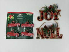 Merry By Christmas House Rustic Style Christmas Tree Ornaments - New - $9.99
