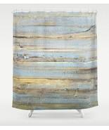 Shower curtains, wood shower curtain, Design 111 blue, powder blue, L.Dumas - $69.99